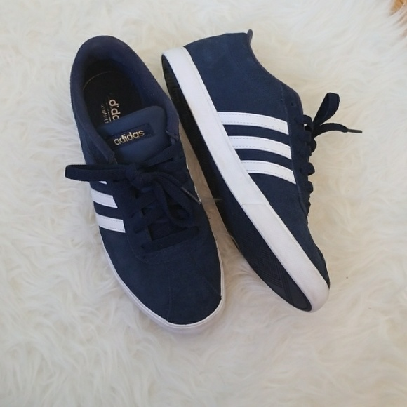 84c2e7828b0296 adidas Shoes - Navy and White Adidas Courtset Neo Sneakers